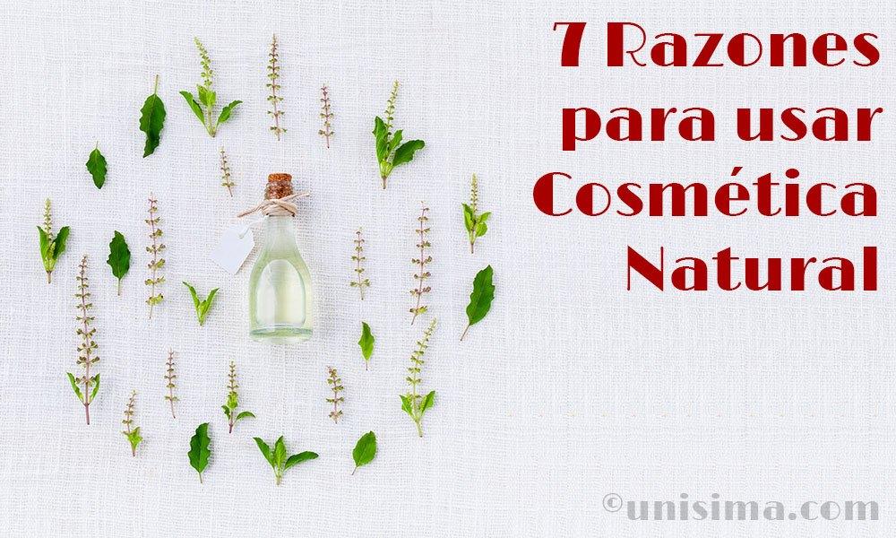 Razones para usar la cosmética natural