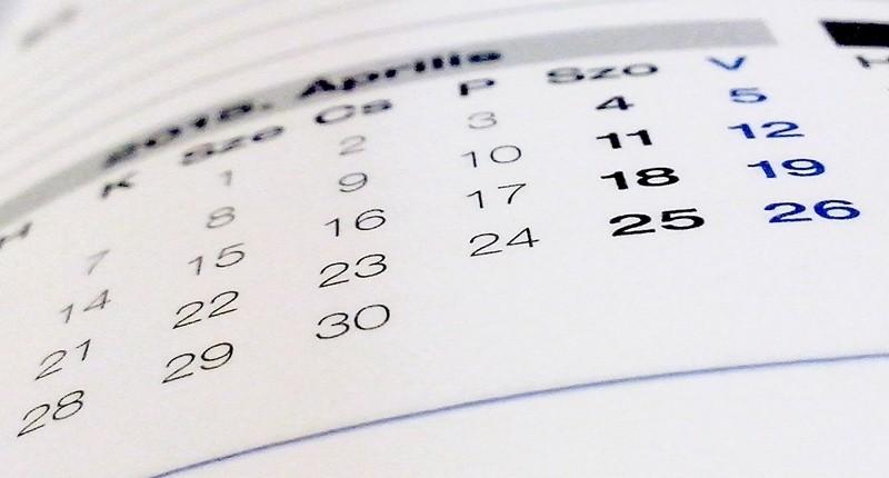 Calendario ciclo menstrual