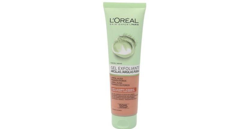 mejores exfoliantes faciales - L'Oréal Paris Gel Limpiador Exfoliante Arcillas Puras Roja