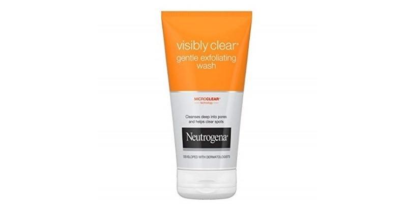 mejores exfoliantes faciales - NEUTROGENA VISIBLY CLEAR exfoliante facial 150 ml