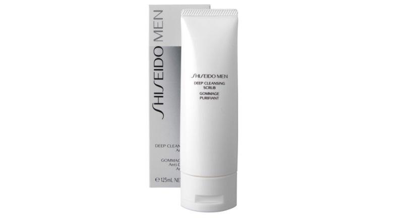 mejores exfoliantes faciales - SHISEIDO MEN deep cleansing scrub 125 ml