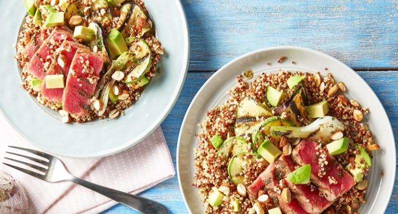 receta quinoa integral - atun con quinoa