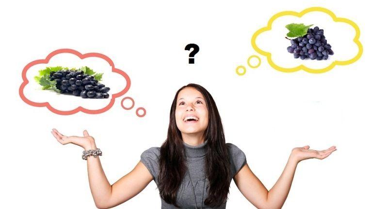 Diferencias entre uva negra y la morada