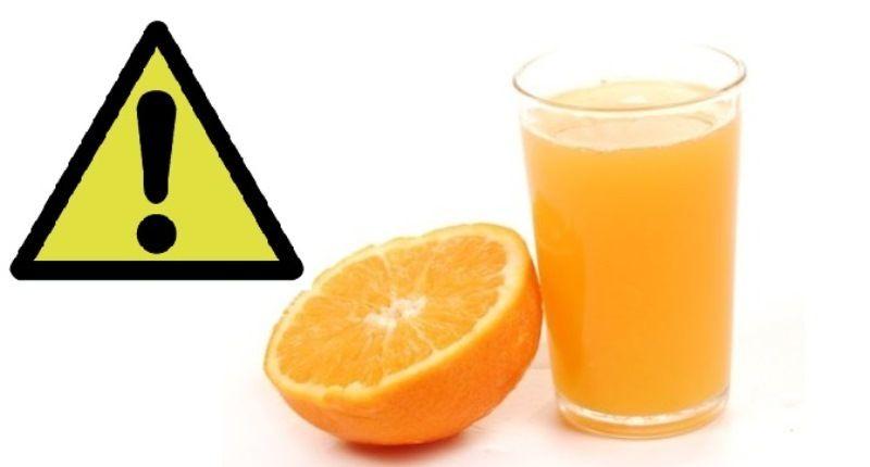 Contraindicaciones del zumo de naranja