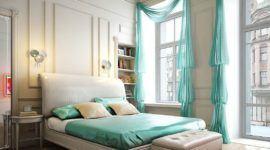 Decoración de interiores de un dormitorio