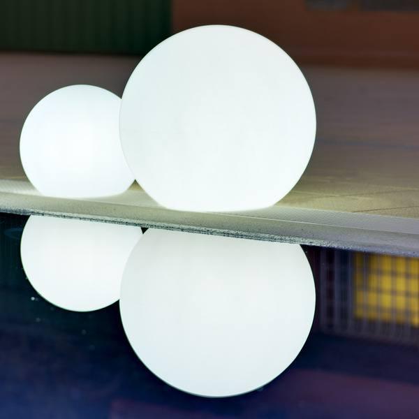 lámparas de exterior redondas