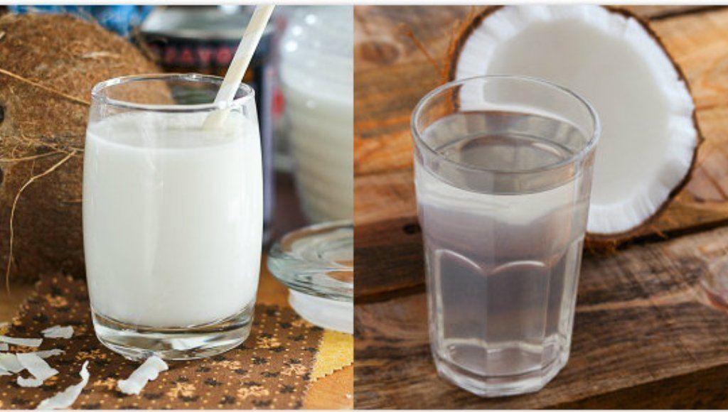 ¿La leche de coco y el agua de coco son lo mismo?