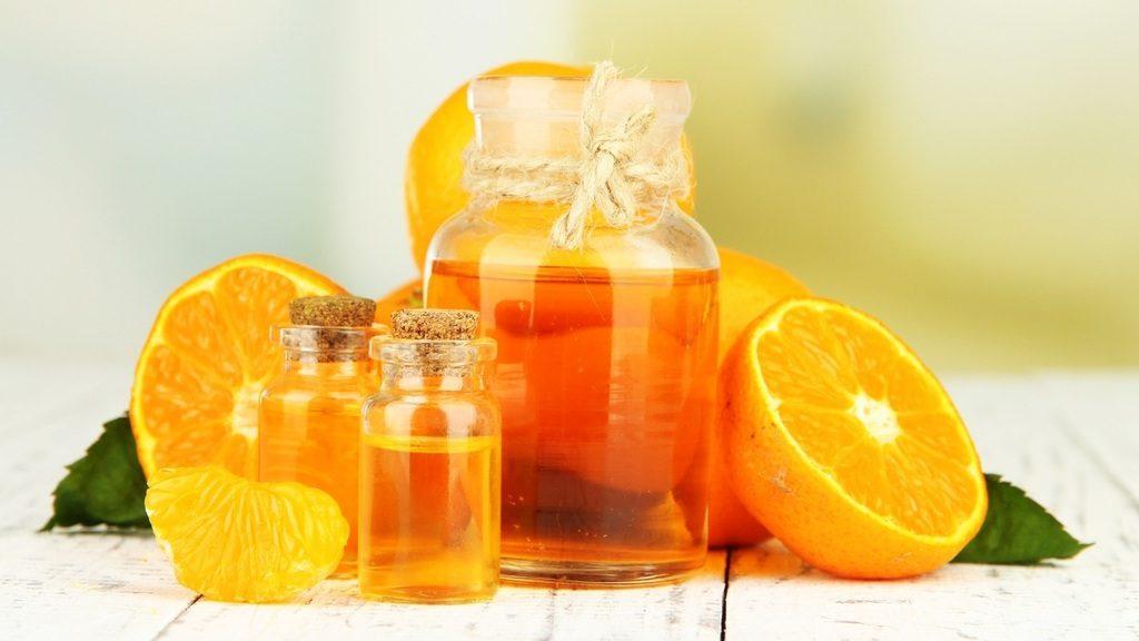 mascarilla para la cara con aceite de naranja