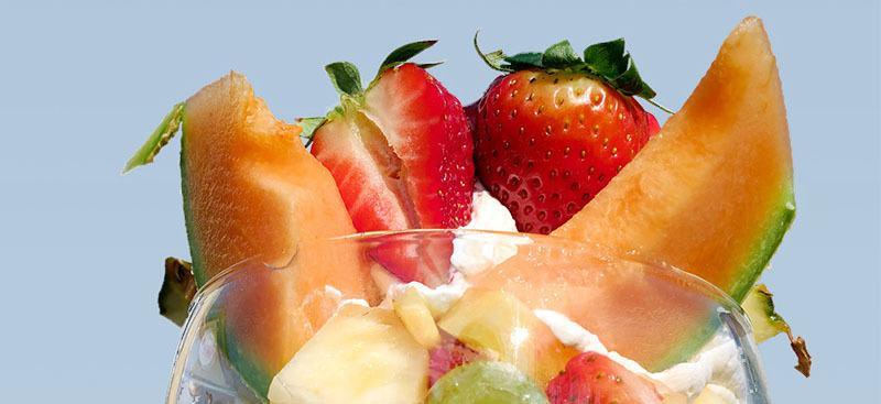 Ensalada de fresas con melón