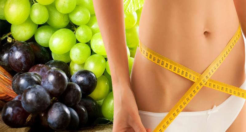 uvas para bajar de peso