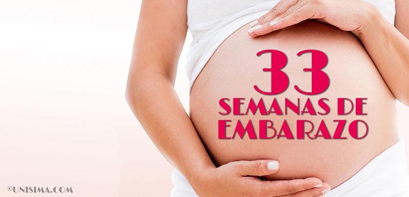 33 semanas de embarazo