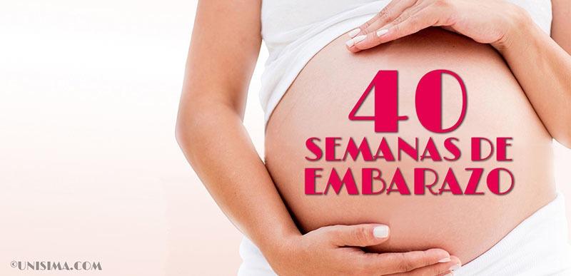 40 semanas de embarazo