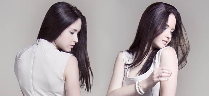 Chica morena con alisado progresivo japonés