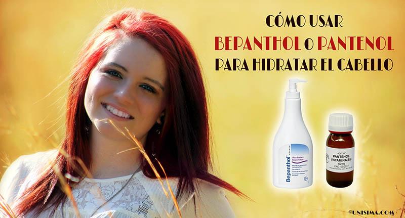 Cómo usar bepanthol o pantenol para hidratar el cabello