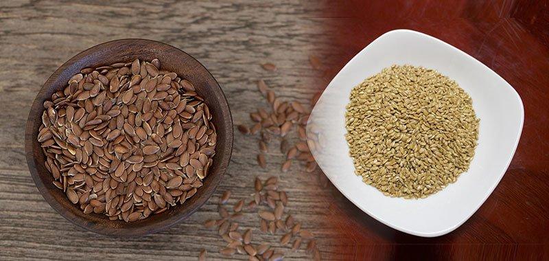 Diferencias entre semillas de lino dorado y marrón