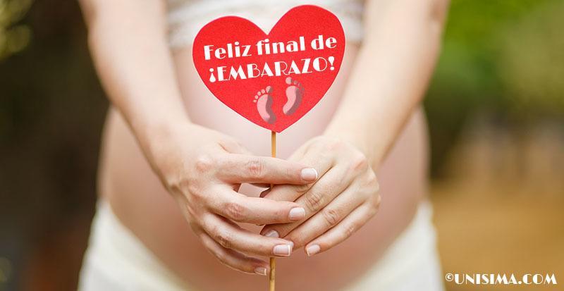 Final de un feliz embarazo de 40 semanas de gestación