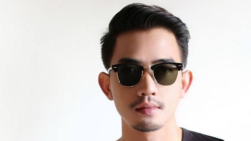 asiático con trasplante capilar