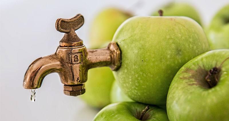 Zumo de remolacha con manzana natural que tiene pectina
