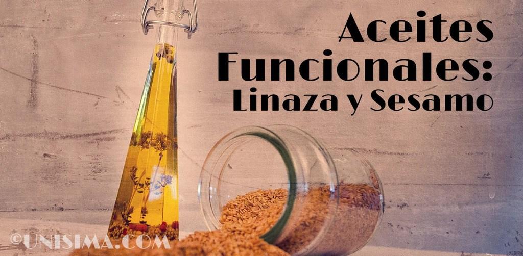 Aceites funcionales de linaza y sésamo