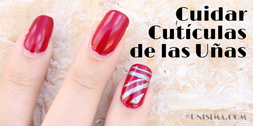 Cuidar cutículas de las uñas