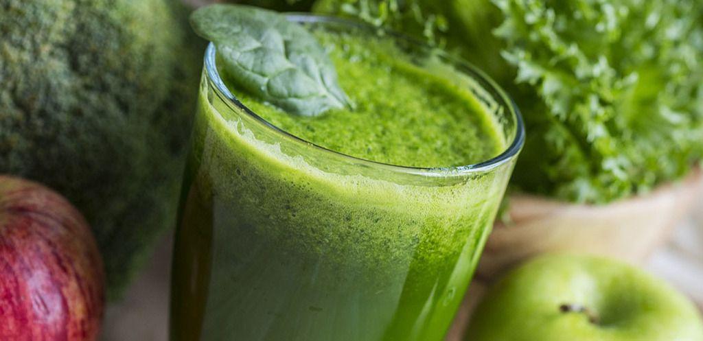 zumo verde de brócoli