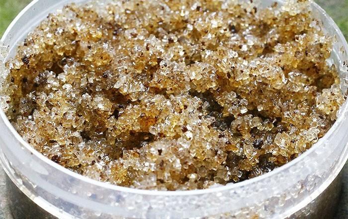 Exfoliante basado en azúcar