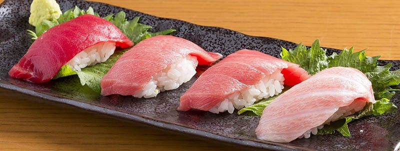 Jengibre en comida sushi