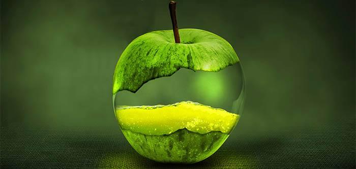 Manzana para zumos verdes