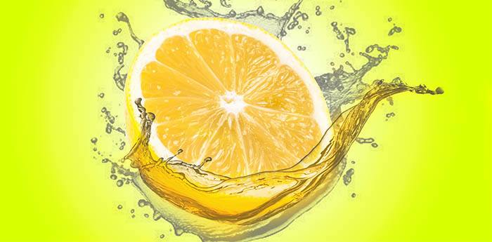 Limón en zumos verdes