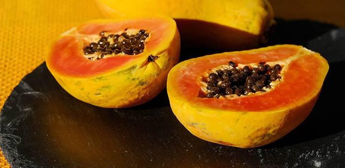 Papaya con zanahoria en mascarilla para la piel