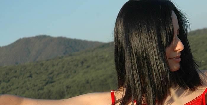 Pelo negro cambio de color