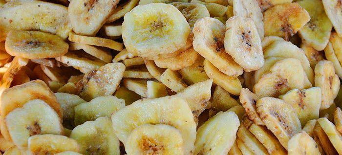 Plátano deshidratado de aperitivo