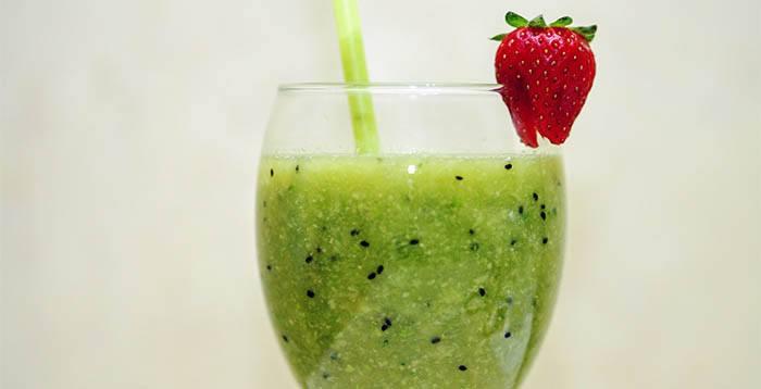Smoothie de zumo verde