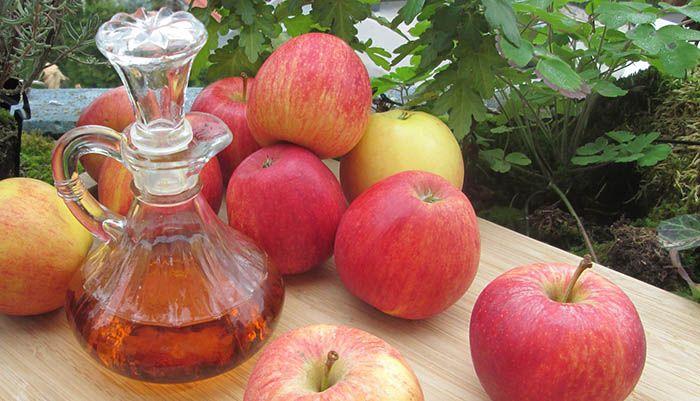 Evitar encrespamiento con vinagre de manzana