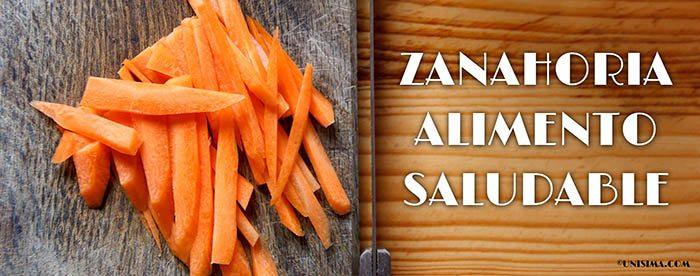 Zanahoria alimento saludable