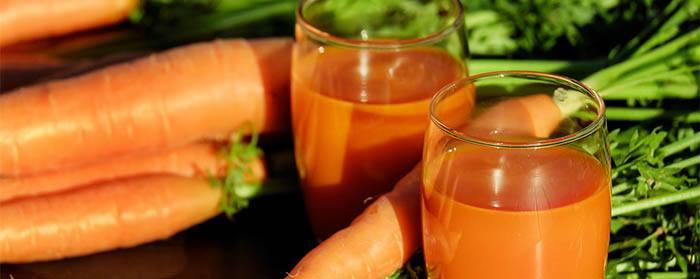 Zanahorias, el ingrediente de zumo vigorizante