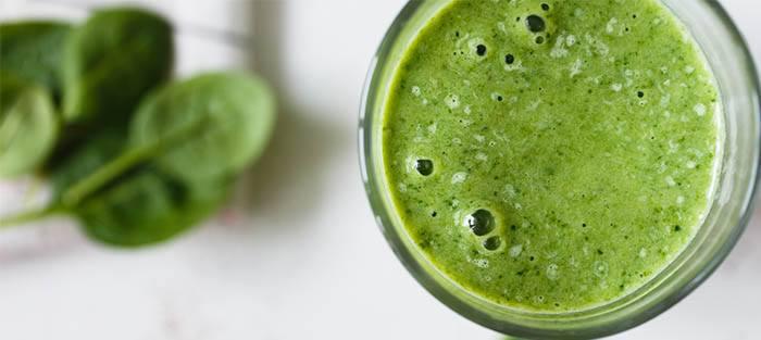 Burbujas de zumo verde