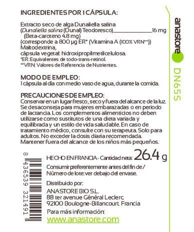 Etiqueta Anastore Vitamina A