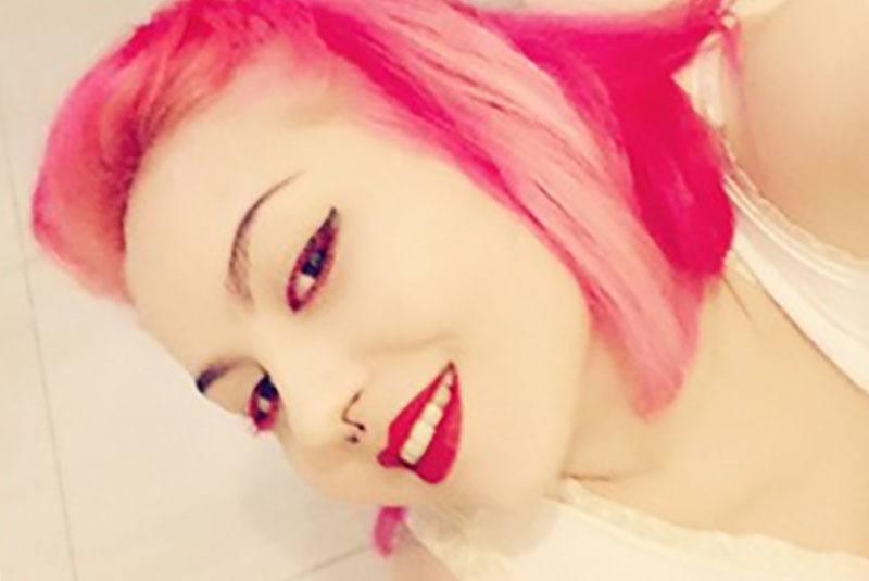 resultado tinte rosa en el cabello