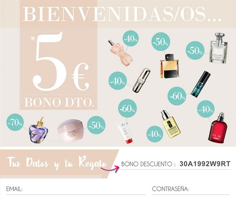 mail recibido al registrarse en perfumes club