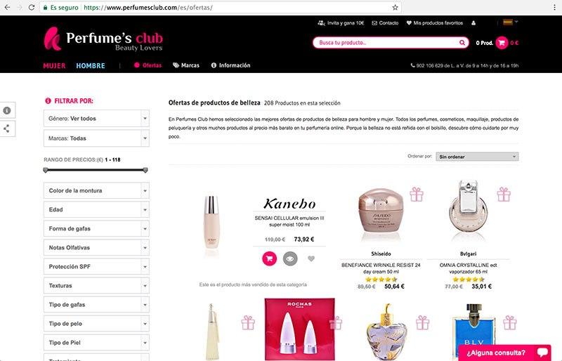 Ofertas Perfumes Club