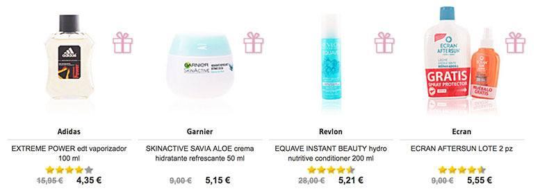 visualización productos categorías perfumes Club