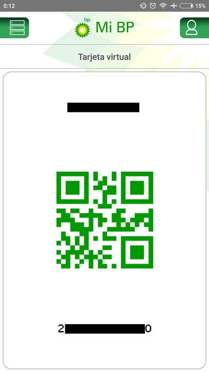 mi tarjeta virtual en la app mi bp