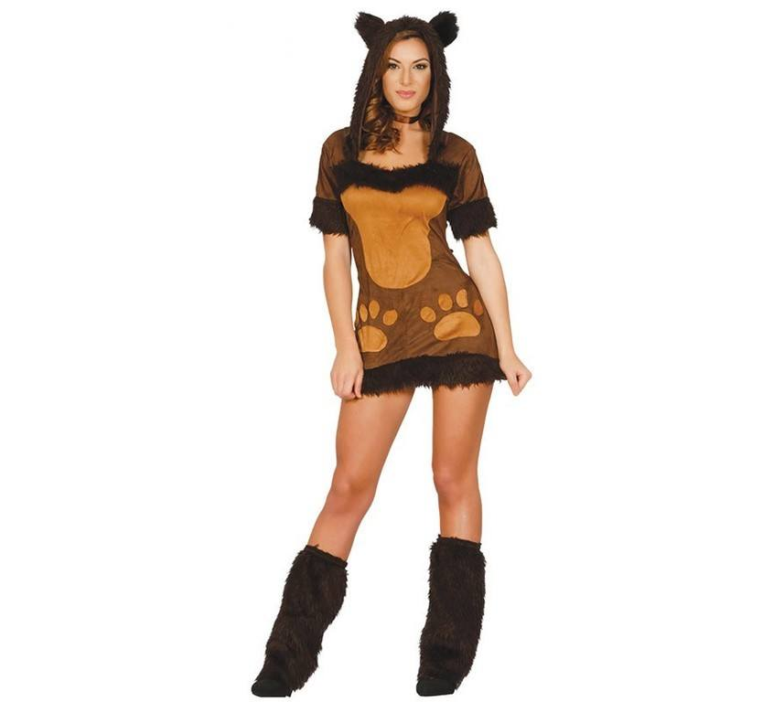 Disfraz carnaval osita marrón