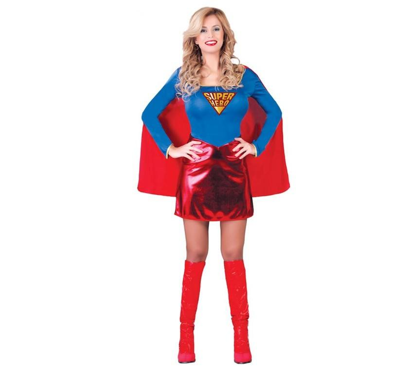 disfraz de carnaval superheroína