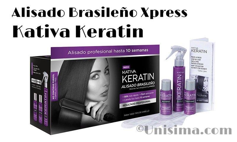 Tratamiento alisado brasileño con keratina de Kativa Keratin