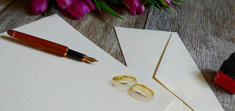 Ideas de boda: cartas de amor hechas flores