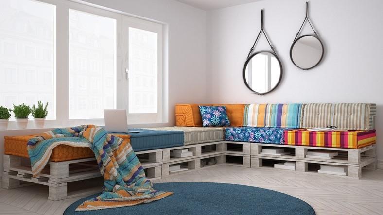 Muebles con palets para sofás
