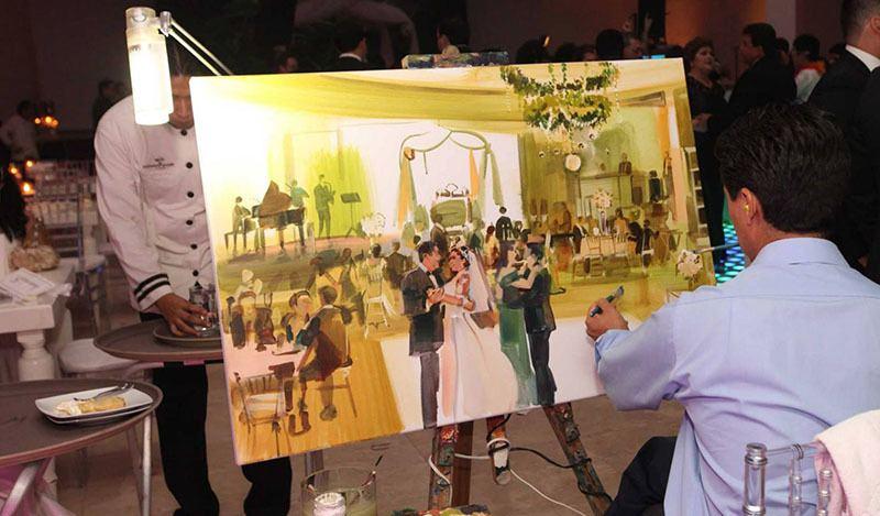 Ideas de boda: pintor para escenas de la boda