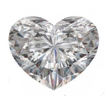 talla diamante: corazón
